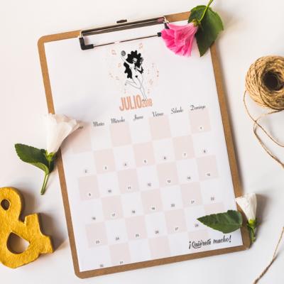 Calendario JULIO REGALO